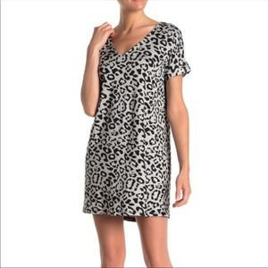 Vanity Room French Terry Leopard Print Dress-NWT